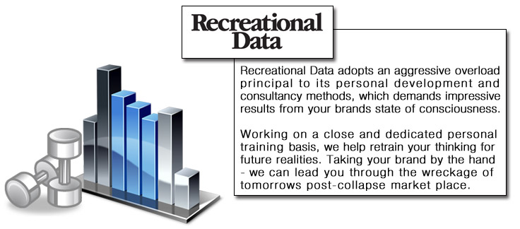 Recreational Data adopts an aggressive overload principal to its personal development and consultancy methods, which demands impressive results from your brands state of consciousness.